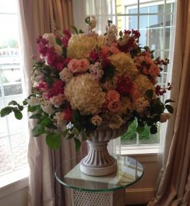 Floral Affair CT Wedding Reception Arrangement