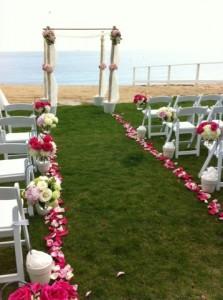 Floral Affair CT ceremony arrangement